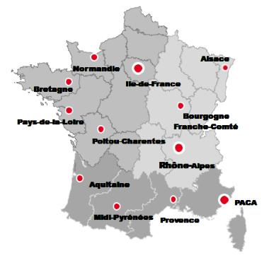 SAMOP - localisation des agences - 18/01/2013